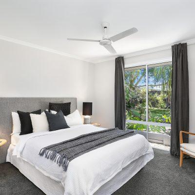 Monochrome master bedroom