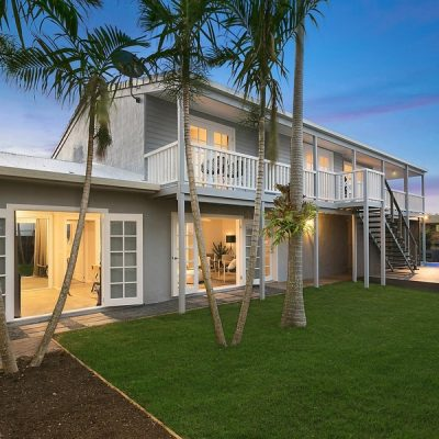 Modern Queenslander home with french door and Hamptons vibe at dust