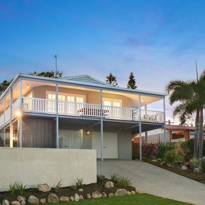 Modern Queenslander at dusk